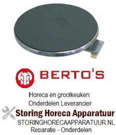758490020- Kookplaat ø 220mm 2600W 230V voor bertos fornuis