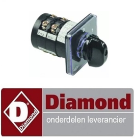 675A87AZ69004 - Draaischakelaar 3POS.-16A DIAMOND E3F/24R, EFP/4R, EFP/6R, EFP/44R, EFP/66R