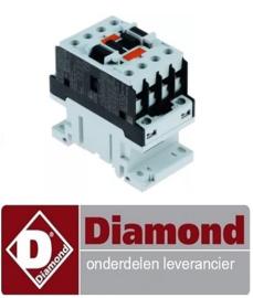 22891310136 - Relais AC1 25A 230VAC (AC3/400V) 9A/4,2kW hoofdcontact 3NO hulpcontact 1NO DIAMOND