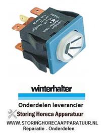 459345438 - Drukschakelaar  inbouwmaat 30x22mm wit 2NO/signaallamp 250V 16A verlicht spoelen WINTERHALTER