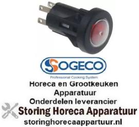 289346287 - Drukschakelaar tastend inbouwmaat ø16mm rond rood 1NO 250V 3A verlicht SOGECO