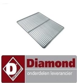 48746502003 - Gerilsaniseerde rooster GN 1/1 DIAMOND