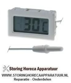 057379258 - Thermometer type TPM-10 inbouwmaat 46x26,6mm voorkant maat 48x29mm batterij compartiment achter