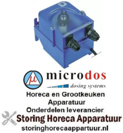 607361614 - Doseerapparaat MICRODOS tijdsturing 1l/h 230 VAC naglansspoelmiddel slang ø 4x6mm slang silicone