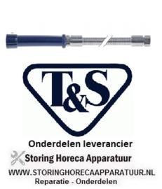 """122594204 - T&S Doucheslang met greep aansluitingen 3/4""""-14 UN L 1727mm RVS"""