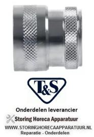 """51640540516 - Koppelbus type DN13 messing verchroomd aansluiting 1/2"""" ID T&S"""