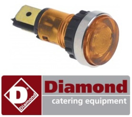 334359290 - Signaallamp ø 12mm 400V geel DIAMOND E65/F230-7T