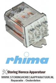 38050910040 - Vermogensrelais 230VAC - 16A RHIMA