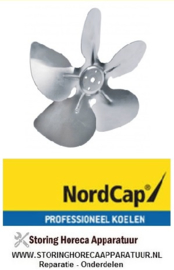 60140801001 - Ventilatorblad zuigend ø 200mm NordCap KU 280-SL CNS