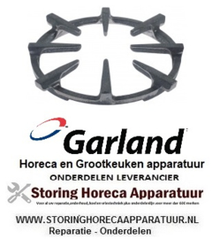 281210055 - Fornuis branderrooster B 275mm L 275mm H 35mm inbouwpositie brander  GARLAND