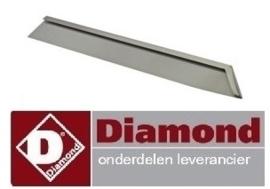 """378A60/CGFT-DX6 - Afdichtingsstrip rechts """"plaat of grill + standaard"""" DIAMOND"""