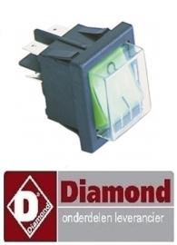 30023327 - GROENE AAN/UITSCHAKELAAR MET BESCHERMING  DIAMOND ICE20A