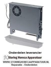 7723123019 - Verdamper L 400mm H 365mm dikte 83mm inbouwpositie gecentreerd 230V met bak EVC1N 50Hz