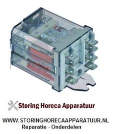 ST150910040 - Vermogensrelais  230VAC 16A 2CO aansluiting F6,3 overslagbevestiging RHIMA DR59