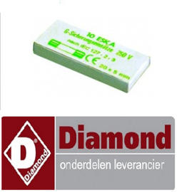124LC-426 - Fijnzekering grootte ø5x20mm 0,16A traag maximale spanning 250V - 10 STUKS DIAMOND DFV-423/S