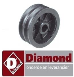926A9.0UL780.02 - Motor rondesnaarschijf schijf ø 76mm dubbel asafname ø 14mm groefdiepte 6mm DIAMOND P32/X