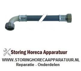 """542520011 - Toevoerwaterslang PVC recht-haaks DN13 aansluitingen 3/4"""" L 2000 mm werkdruk 10 bar"""