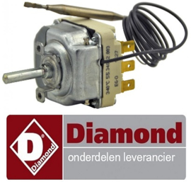 61666100700 - Thermostaat 100-330°C 3-polig voor bakplaat DIAMOND