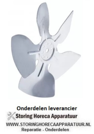 55340601553 - Ventilatorblad zuigend ø 172mm ventilatorblad bevestiging 25,4mm vleugelhoek 28°