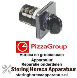 252345676 - Draaischakelaar 2 0-1 contactset 400 Volt - 20Amp PIZZA GROUP