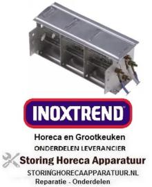 744419034 - Verwarmingblok bevestigingsafstand 95mm B 116mm H 45mm 800W 230V temp. begrenzing 90°C Inoxtrend