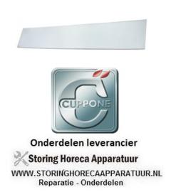 234693331 - Glasplaat L 1063mm B 93mm rechthoekig voor CUPPONE