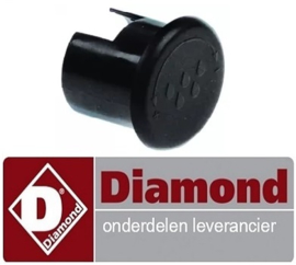 ST10370120 - Symbool water ø 28mm - L 27mm zwart DIAMOND COMPACT