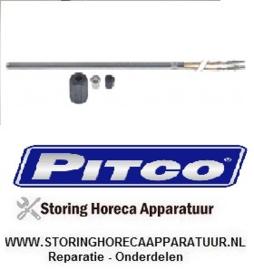 487B3316801C - Temperatuurvoeler thermokoppel K (NiCr-Ni) kabel glasvezel voeler -50 tot +750°C  PITCO