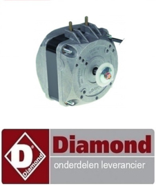 03440701002 - Ventilatormotor 10W 230V 50Hz L1 43mm L3 81mm B 83mm kabellengte 450mm DIAMOND