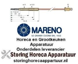 5981.076.08 - Thermokoppel M9x1 L 500mm steekhuls ø6,0(6,5)mm MARENO