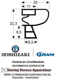 349901644 - Koeldeurrubber B 670mm - L 1490mm steekmaat GRAM