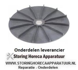 100601730 - Ventilatorblad voor motorkoeling AD ø 180mm H 20mm ID ø 20mm