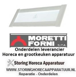 41273700850 - Glasplaat rechthoekig met pakking voor pizza oven  MORRETI T75E