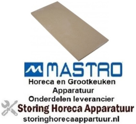 356850110 - Vuurvaststeen L 588mm B 294mm H 19mm voor pizza oven MASTRO