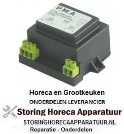 244400583 - Transformator primair 230VAC secundair 24VAC 10VA secundair 0,4A aansluiting schroefaansluiting 50Hz