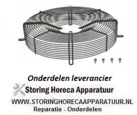 2112102.235 - Rooster voor ventilatorblad ø 400 mm H 80 mm bevestigingsafstand  470 mm