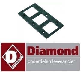 ST9002689 - Pakking L 137mm, B 79mm materiaaldikte 3,5mm voor verwarmingslelement  DIAMOND