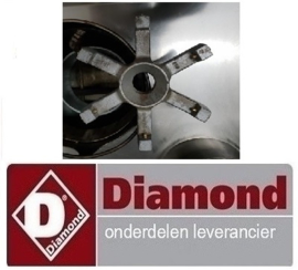 106G060 - Gasinspuiter sproeier voor CHINA wokbrander Ø1,5 (N°1.5) DIAMOND CHINA