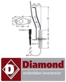 76991310480 - Ontstekingskaars voor pizza oven DIAMOND GS633/1D-A5-HL