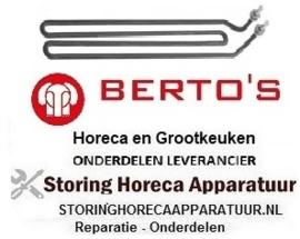 454416000 - Verwarmingselement 1500 Watt - 230 Volt Grill BERTOS
