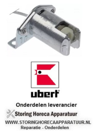 1353.404.12 - lampfitting fitting R7s 250V ø 20mm L 43mm B 36mm H 27mm aansluiting kabel 400mm UBERT