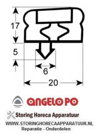 056901504 - Koeldeurrubber profiel 9251 B 750mm L 2000mm steekmaat 3-zijdig korte zijde open ANGELO-PO
