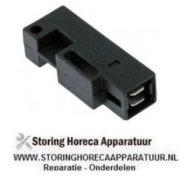 160345821 - Magneetschakelaar L 50mm B 19mm 1NO 250V 1A P max. 50W aansluiting vlaksteker 6,3mm