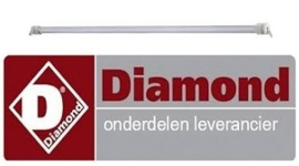 2784.0.074.1003 - Verwarmings Quartz buis L 395mm ø 12mm DIAMOND TOSTI