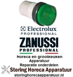 138359126 - Signaallampfitting inbouwmaat ø13mm groen ZANUSSI