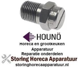 """168542436 - Injekteersproeier L 20mm SB 12 RVS voor heteluchtoven draad 1/8""""  Houno"""