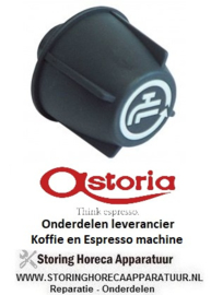 2991.111.53 - Knop water ø 49mm as ø 8x6,5mm afvlakking boven zwart Koffie machine ASTORIA