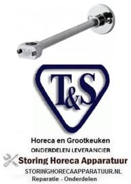 485594181 - Wandhouder voor voorspoeldouche koper L 305mm T&S voorspoeldouche