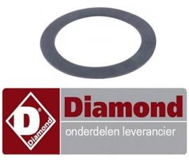 754437102 - Vlakpakking rubber wasarmmoer vaatwasser  DIAMOND DK7/2-NP