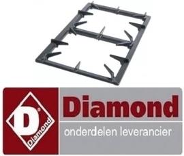 139.681.008.00 - Branderrooster passend voor gasfornuis DIAMOND G65/4F7T